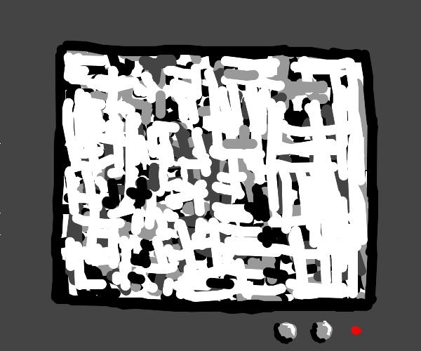 grey tv screen