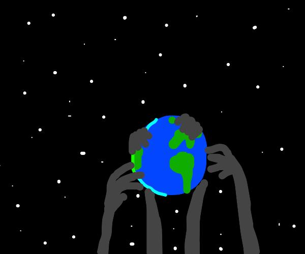 spooky shadows steal the earth