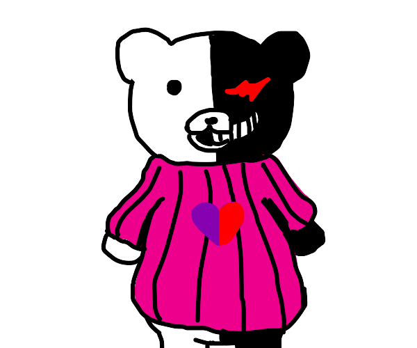 Bear in a sweater