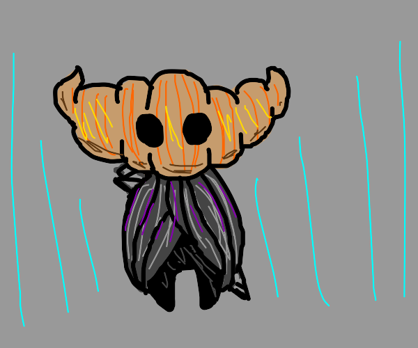 Hollow Knight but he's a croissant