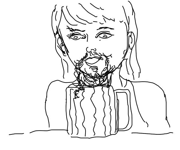 lady grows a beard from beer