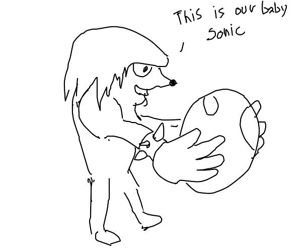 My god, Knuckles just laid an egg