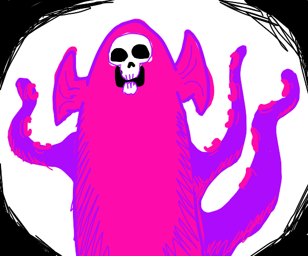 pink eldritch space god prepares to consume u