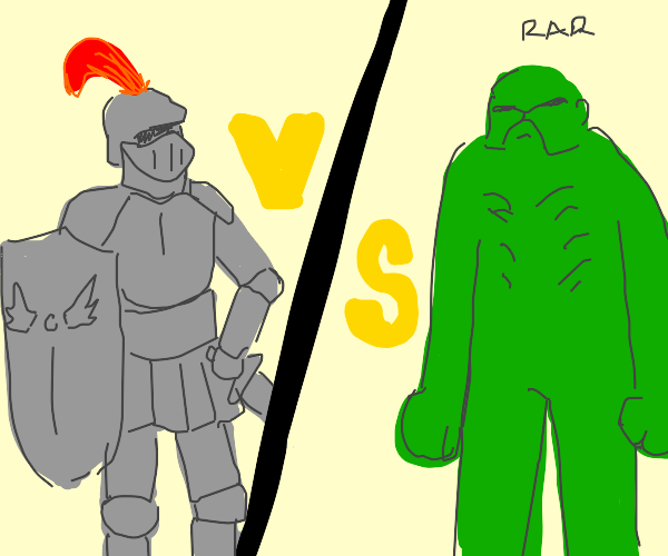 Knight Vs. Swamp Thing