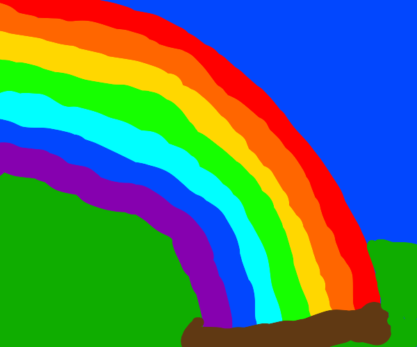 The end of the Rainbow is buried