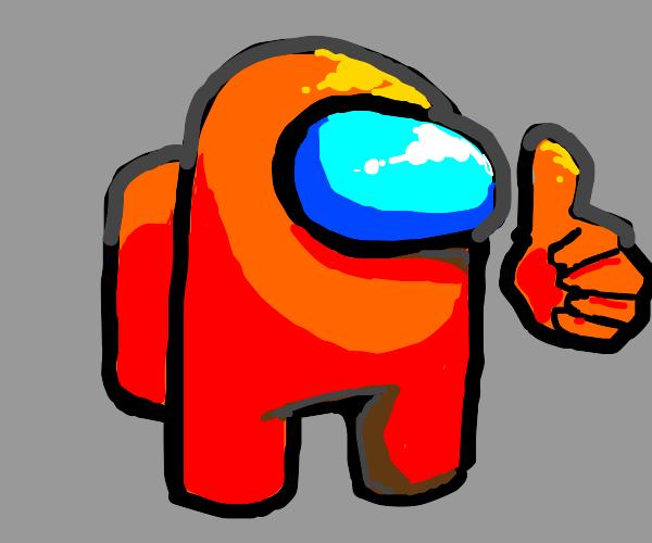 Among Us Character (Orange)