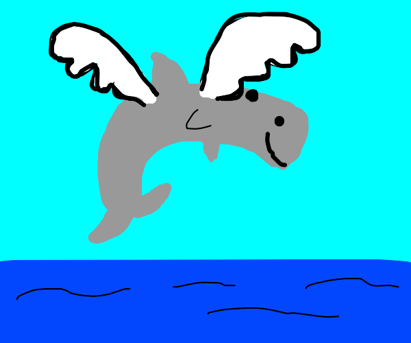 whale with angel wings