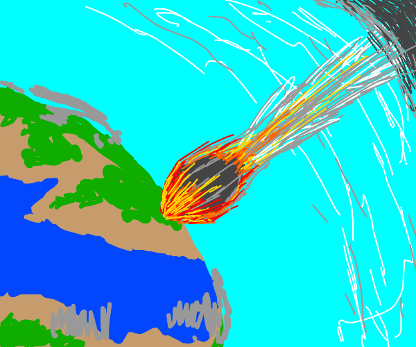 Asteroid collision with earth