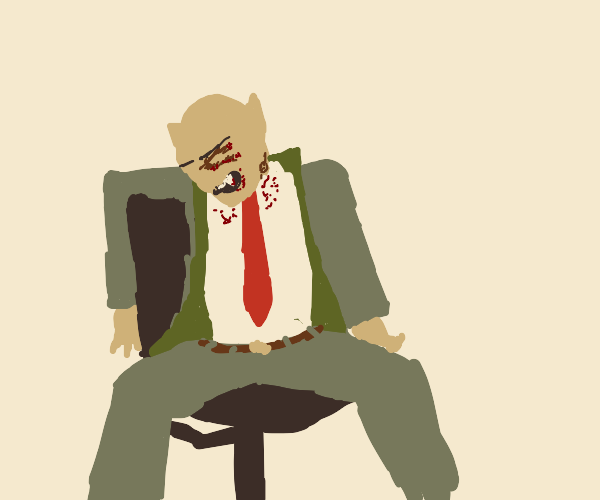 beat up vampire business man