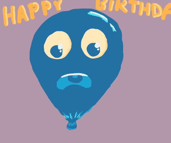 a surprised birthday balloon