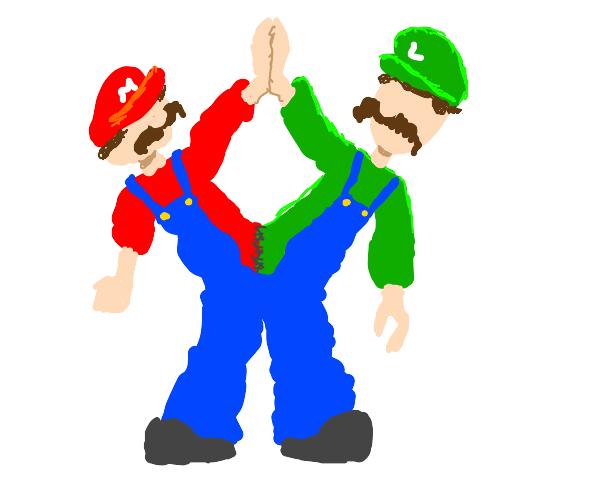 Mario and Luigi conjoined