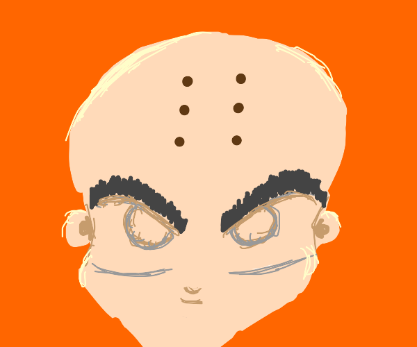 avatar with 6 dots instead of his head arrow