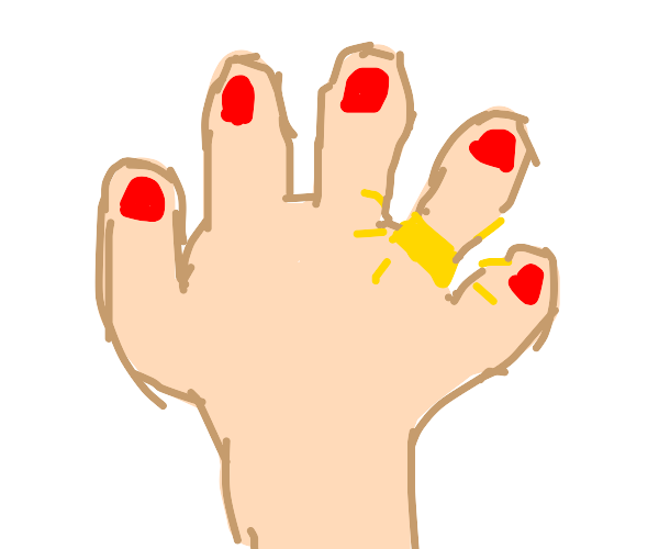 Hand with gold ring