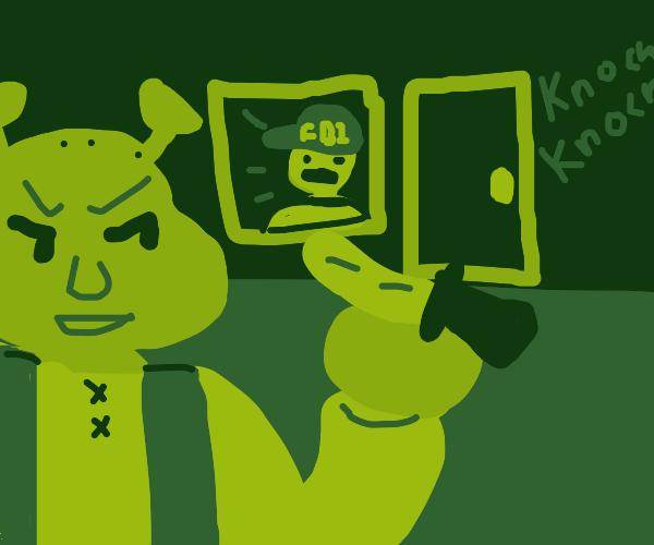 POV Shrek holding you hostage against FBI