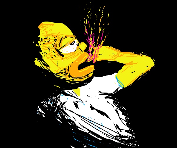 homer consumes several flaming fingers