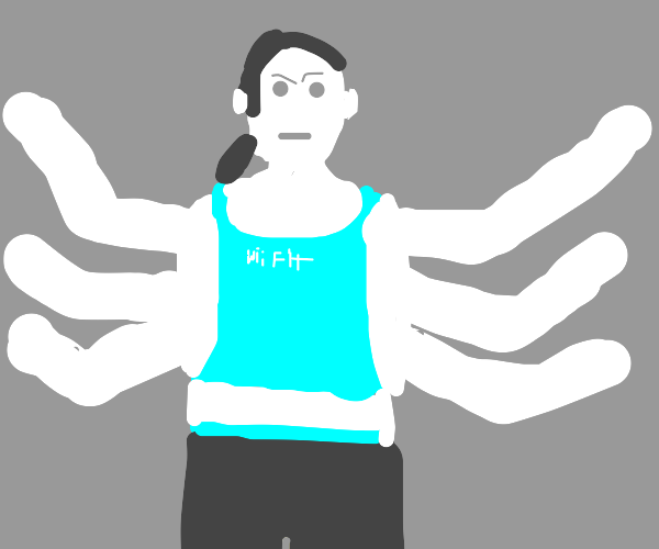 wii fit woman with six arms