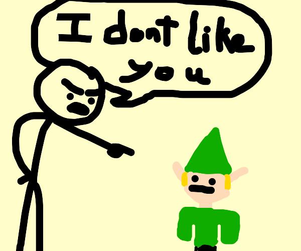 Stickman dislikes elf