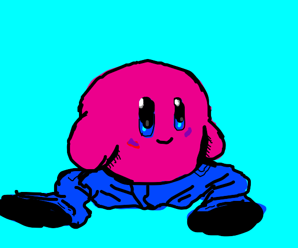 Kirby with pants