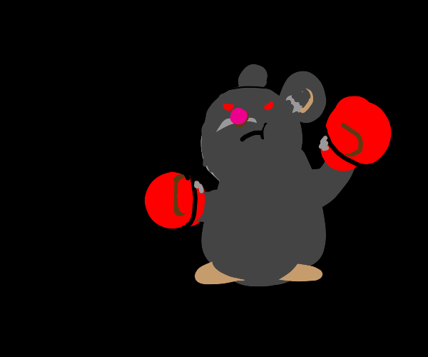 Mouse with boxing gloves