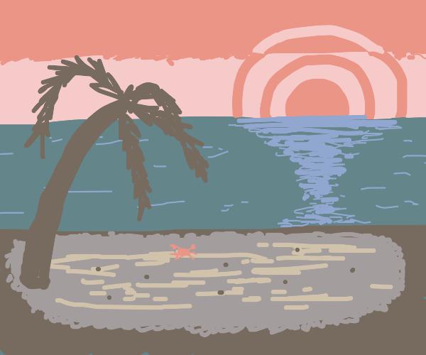 dim beach