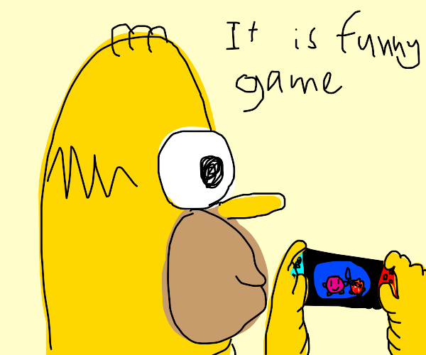 yellow guy playing the Kirby