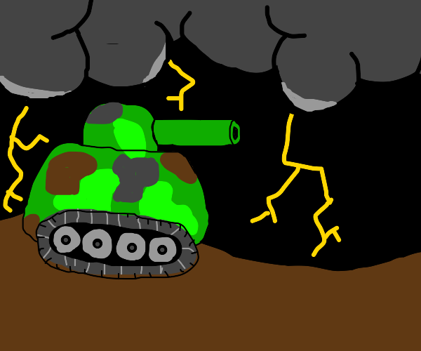 Tank in a Thunderstorm