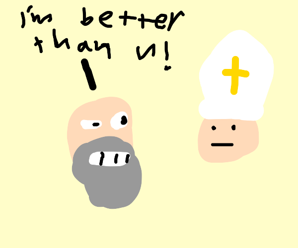 Old man is better than the Pope