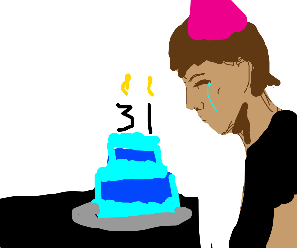 Guy celebrating 30th birthday by himself