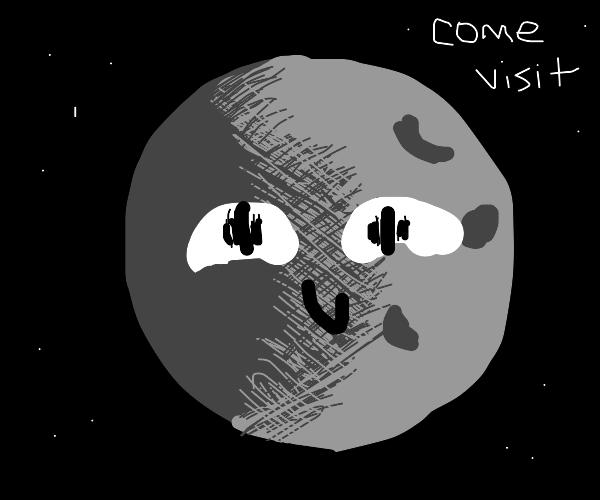 creepy moon wants you to visit him