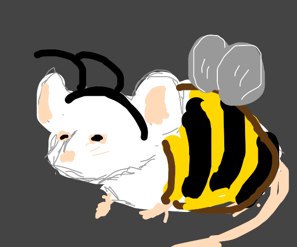mouse acting as a bee