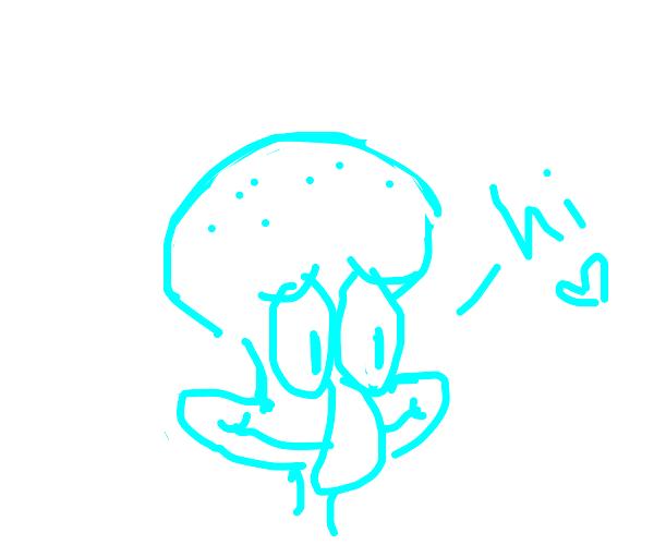 squidward says hi