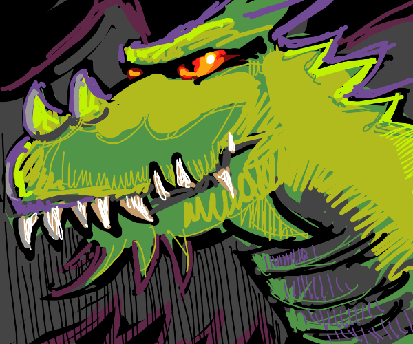 dragon is happy but evil