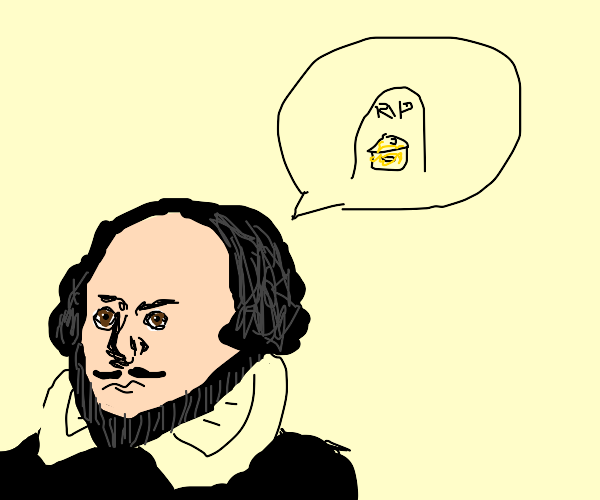 Shakespeare talking about cheese dying