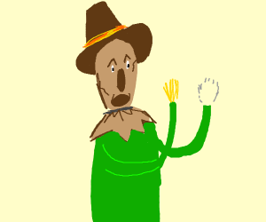 scarecrow from oz loses his hand
