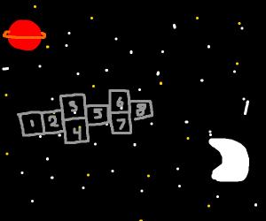 Space hopscotch