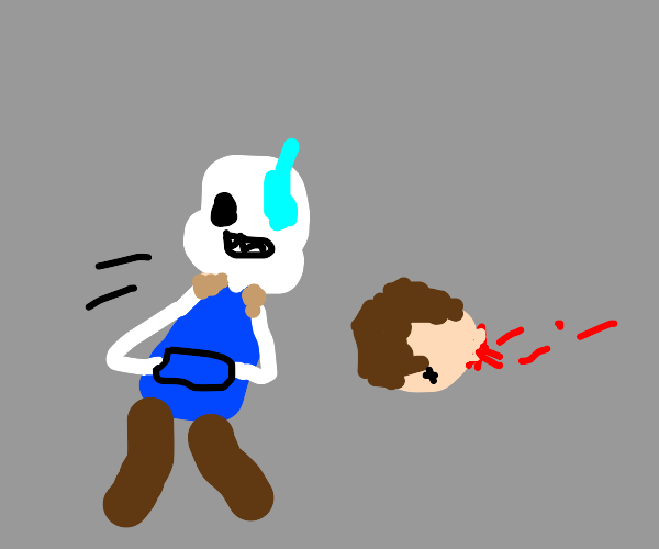 sans barely dodging a flying head