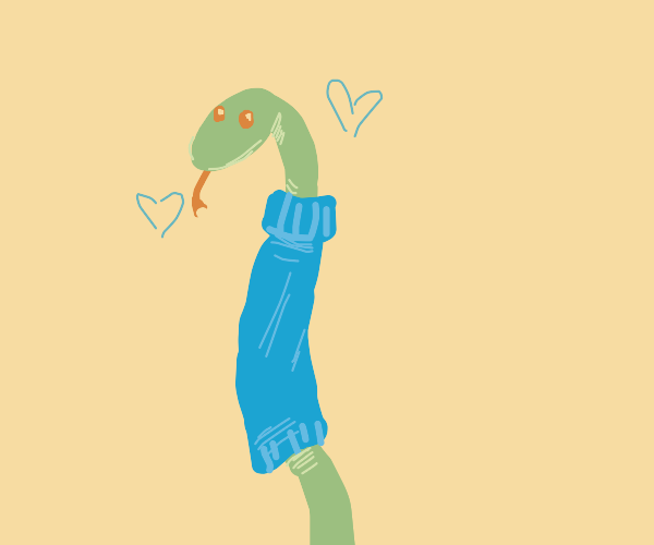Snake wearing a sweater