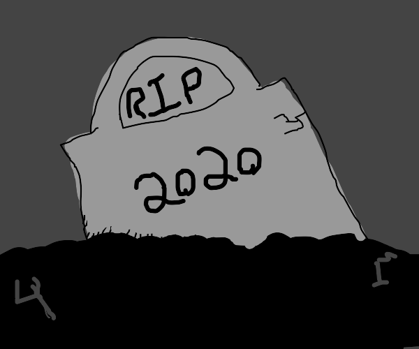 A grave of someone who died in 2020