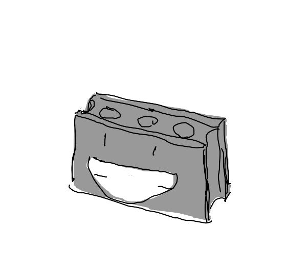 Mighty concrete block smiles