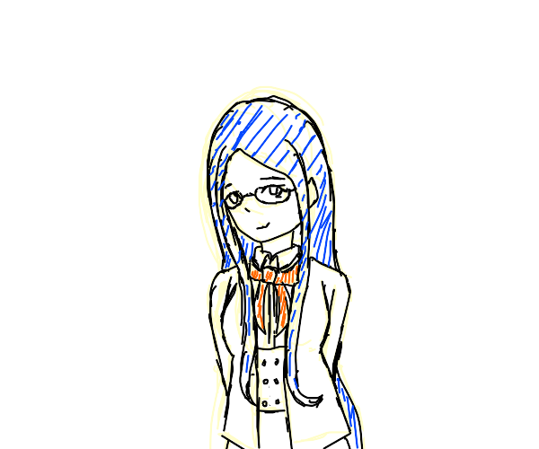 The blue haired tailor girl from Danganronpa