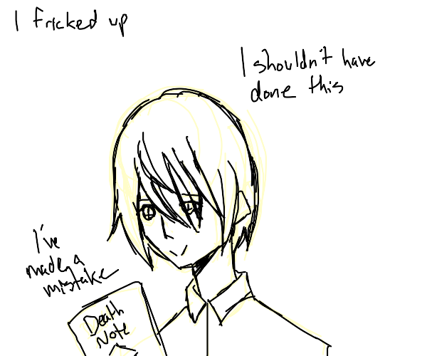 Death note but there are regrets