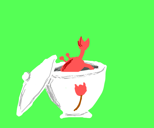 place crab in sugar pot