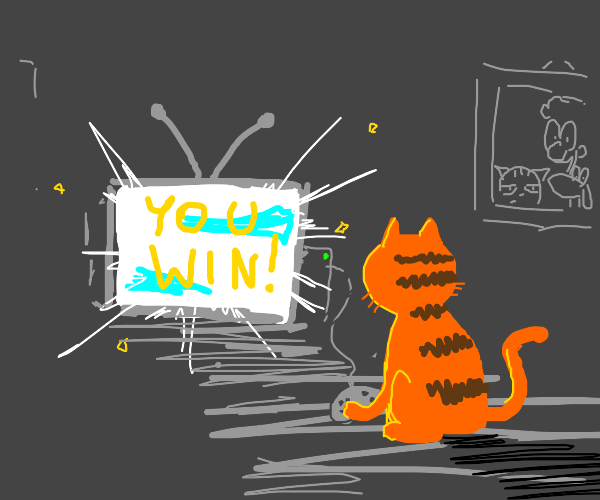 Garfield wins an epic video game