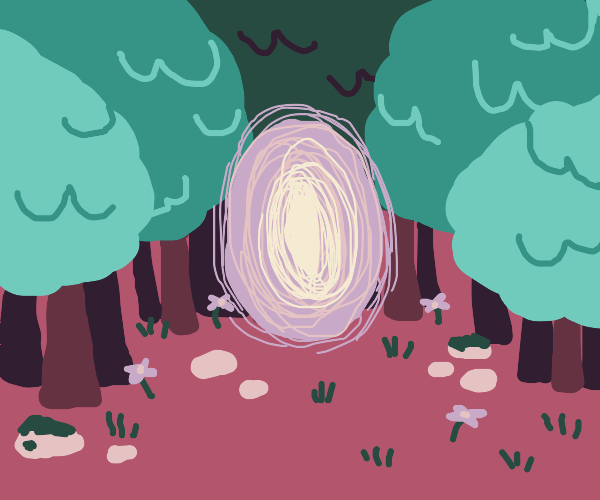 Forest with portal