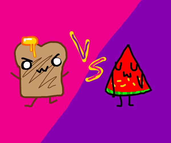 Toast vs melon