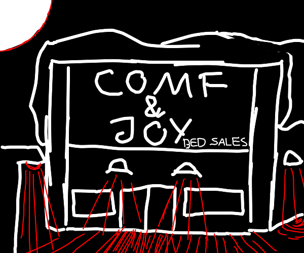 A bed store named Comfort & Joy.