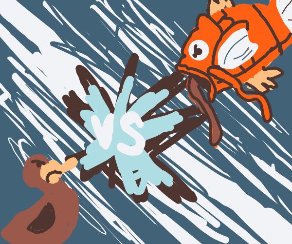 Duck vs magicarp!