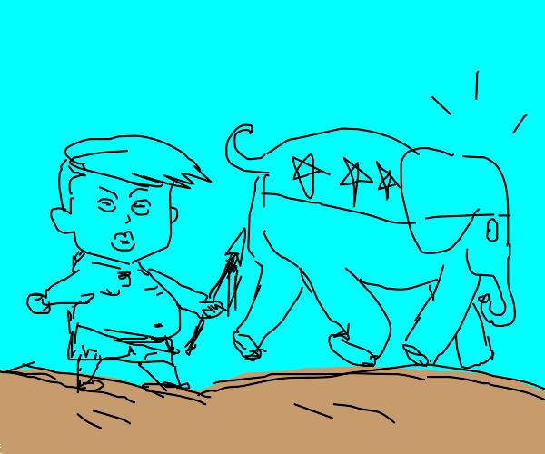 Trump Jr. Poaches Republican Elephant