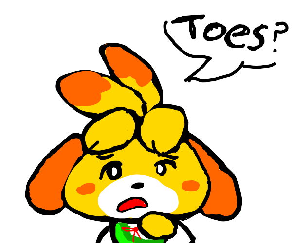 isabelle saying toes