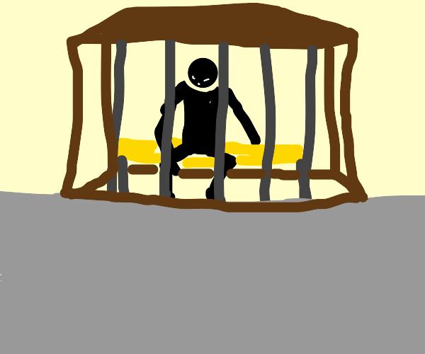 Depressed man in quarantine